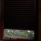 Plisovaná papierová roleta-čierna
